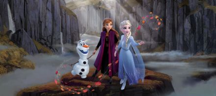 Disney Anna and Elsa Panoramic mural wallpaper 202x90cm